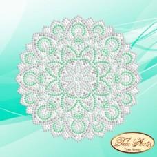 Схема вышивки бисером на атласе Мандала Мятная свежесть Tela Artis (Тэла Артис) МА-006 ТА