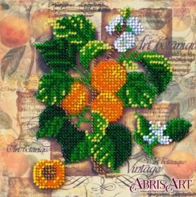 Набор-мини для вышивки бисером на натуральном художественном холсте Абрикосовая веточка