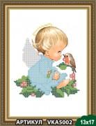Рисунок на ткани для вышивки бисером Ангелочек с рябиной