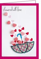 Набор - открытка 3D для вышивки бисером  Дождь любви Абрис Арт АОО-006