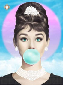 Схема вышивки бисером на атласе Bubble gum Tiffany style