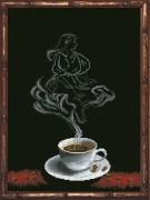 Набор для вышивки крестом Кофейная фантазия. Дева 1