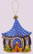 Набор для изготовления игрушки из фетра для вышивки бисером Домик благополучия Баттерфляй (Butterfly) F144