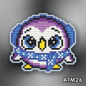 Магнит для выкладки алмазной мозайкой Пинвиненок фиолетовый Art Solo АТМ026 - 96.00грн.