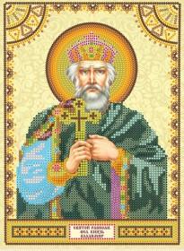 Схема для вышивки бисером на холсте Святой Владимир