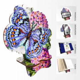 Подставка под телефон с алмазной мозаикой Бабочка и Гортензия Art Solo АРМ-03 - 299.00грн.