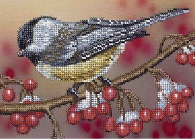Схема для вышивки бисером на габардине Синичка Акорнс А5-Д-271 - 33.00грн.