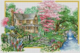 Набор для выкладки алмазной мозаикой Времена года: Весна Алмазная мозаика DM-290 - 1 400.00грн.