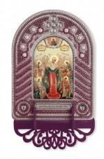 Набор для вышивки иконы с рамкой-киотом Богородица Всех Скорбящих Радость  Новая Слобода (Нова слобода) ВК1018