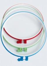 Пяльцы пластиковые для вышивания с металлическим винтом, 1 шт Чарiвна мить (Чаривна мить) Ф26