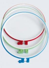 Пяльцы пластиковые для вышивания с металлическим винтом, 1 шт, , 20.00грн., Ф26, Чарiвна мить (Чаривна мить), Нитки, иглы, пяльцы, органайзеры