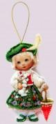 Набор для изготовления куклы из фетра для вышивки бисером Кукла. Франция