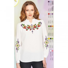 Заготовка вышиванки Женской сорочки на белом габардине Biser-Art SZ104 - 339.00грн.