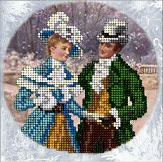 Набор для вышивки ювелирным бисером Рождественские истории 18 Краса и творчiсть 31015