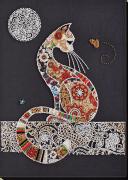 Набор для вышивки бисером Кошечка и мотылек