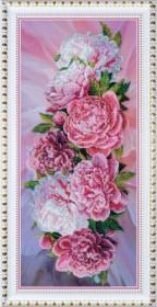 Набор для вышивки бисером Розовые пионы, , 833.00грн., Р-195, Картины бисером, Большие наборы