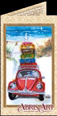 Набор-открытка для вышивки бисером Отпуск у моря Абрис Арт АО-145
