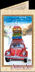 Набор-открытка для вышивки бисером Отпуск у моря, , 74.00грн., АО-145, Абрис Арт, Открытки, магниты
