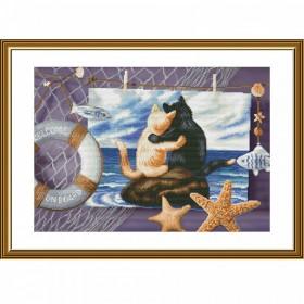 Набор для вышивки нитками на канве А мне хорошо с тобой Новая Слобода (Нова слобода) СР3265 - 383.00грн.
