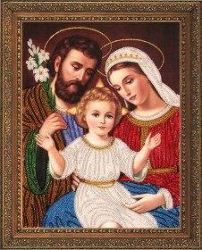 Набор для вышивки бисером Святое семейство, , 396.00грн., 483Б, Баттерфляй (Butterfly), Иконы 26*35 (А3)