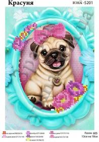 Схема для вышивания бисером Красотка, , 23.00грн., ЮМА-5201, Юма, Собака символ 2018 года своими руками