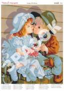 Схема вышивки бисером на атласе Первый поцелуй