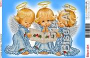 Схема для вышивки бисером на габардине Ангелочки поют