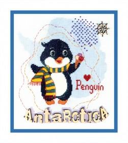 Набор для вышивания крестом Детский мир. Антарктика