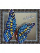 Набор для вышивки бисером на прозрачной основе Бабочка Морфо Киприда