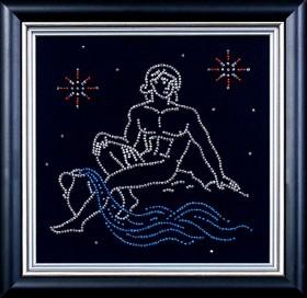 Набор для вышивки бисером Водолей, , 102.00грн., БГ-004 МК, Магия канвы, Гороскоп