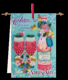 Набор-флажок для вышивки бисером на холсте На брудершафт Абрис Арт АТ-005 - 87.00грн.