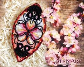 Набор для вышивки бисером украшения на натуральном художественном холсте Игривые завитки