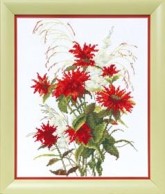 Набор для вышивки в смешанной технике Красная рута, , 175.00грн., ВТ-1020, Cristal Art, Цветы