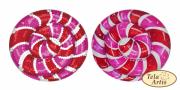 Схема для вышивки бисером на ВЕЛЮРЕ Леденец розовый