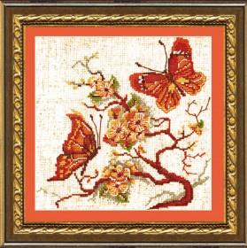 Набор для вышивания в смешанной технике Бабочки, , 99.00грн., №182, Чарiвна мить (Чаривна мить), Цветы