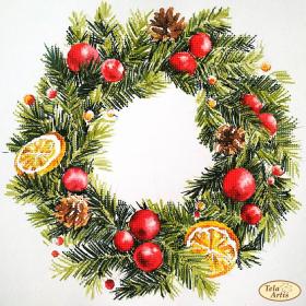 Схема для вышивки бисером на атласе Венок с лимонами Tela Artis (Тэла Артис) ТА-440 - 98.00грн.