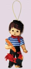Набор для изготовления куклы из фетра для вышивки бисером Кукла. Франция-М
