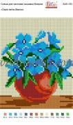 Рисунок на габардине для вышивки бисером Серія квітів: Фіалки