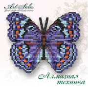 Набор-магнит для выкладки алмазной мозаикой Яркий коммодор (Precis octavia)