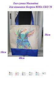 Эко сумка для вышивки бисером Мальвина 70