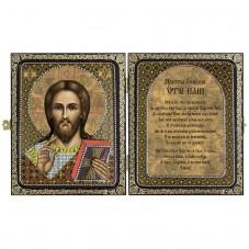 Набор для вышивки иконы в рамке-складне Христос Спаситель Новая Слобода (Нова слобода) СА7101