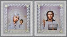 Набор для вышивки бисером Набор венчальных икон (серебро) Картины бисером Р-366