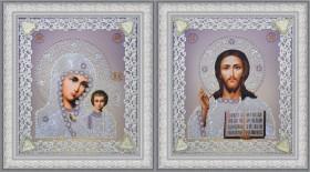Набор для вышивки бисером Набор венчальных икон (серебро) Картины бисером Р-366 - 365.00грн.