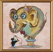 Набор для вышивки в смешанной технике Цирковой слон