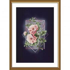 Набор для вышивки крестиком на фоновой канве Ода роз Новая Слобода (Нова слобода) АС5001 - 312.00грн.