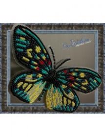Набор для вышивки бисером на прозрачной основе Бабочка Erasmia Pulehera