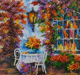 Набор для вышивки бисером на холсте Осеннее настроение