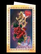 Набор для вышивки бисером Открытка-конверт Бархат розы