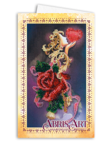 Набор для вышивки бисером Открытка-конверт Бархат розы Абрис Арт АОМ-011 - 89.00грн.