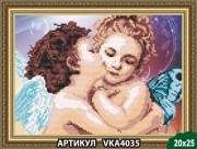 Рисунок на ткани для вышивки бисером Поцелуй ангелков
